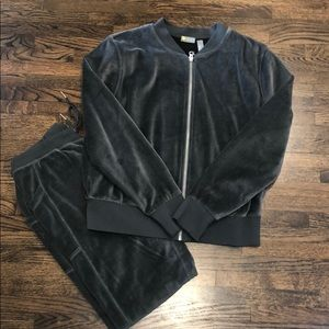 Zella Velour Jacket and Pant Set